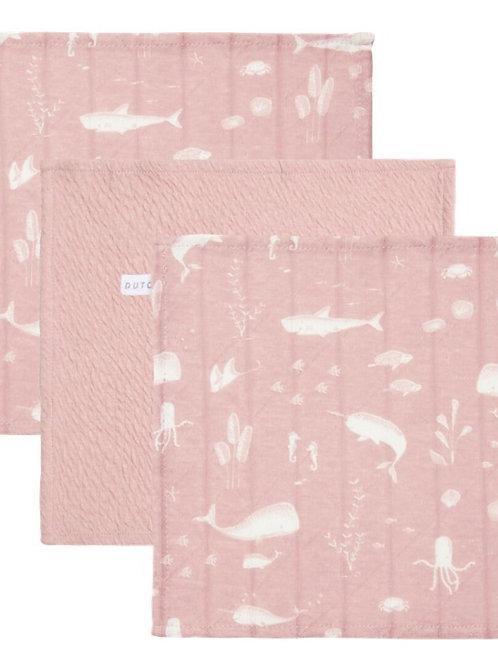 Set de 3 toallitas Rosa