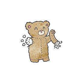 95135118-cartoon-teddy-bear-with-torn-ar