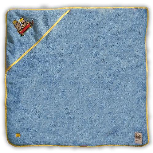 Blaues oder Gelbes Badetuch mit Kapuze