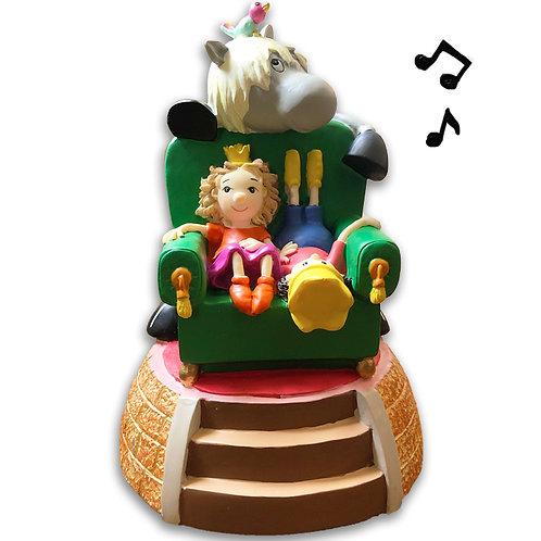 Spieluhr spielt Pim, Pam, Pom Gute Nacht Musik