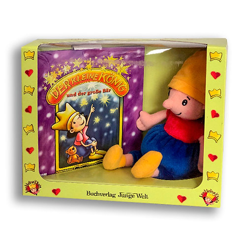 Buch und Puppe zum Liebhaben
