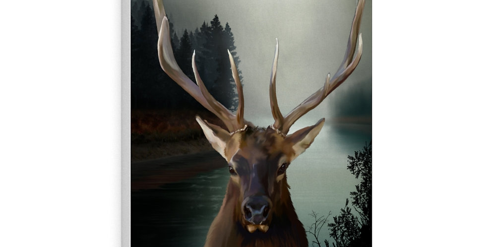 Majestic Elk Canvas Gallery Wraps