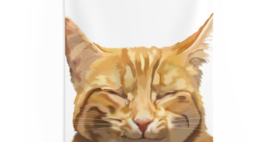 26x36 Indoor Wall Tapestries Happy Cat
