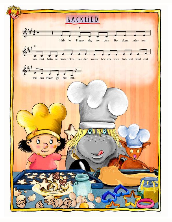 Back lied der Kleine König Noten zum singen und spielen Musik