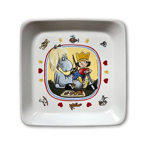 Der kleine König Teller mit Grete