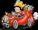 der kleine koenig und sein auto mit wuff und tiger, Hedwig Munck, shop vom kleinen koenig