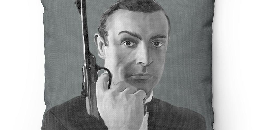 James Bond Sean Connery Spun Polyester Square Pillow