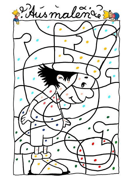 der kleine König spiele Bild zum ausmalen für kinder, Sandmännchen, Hedwig Munck