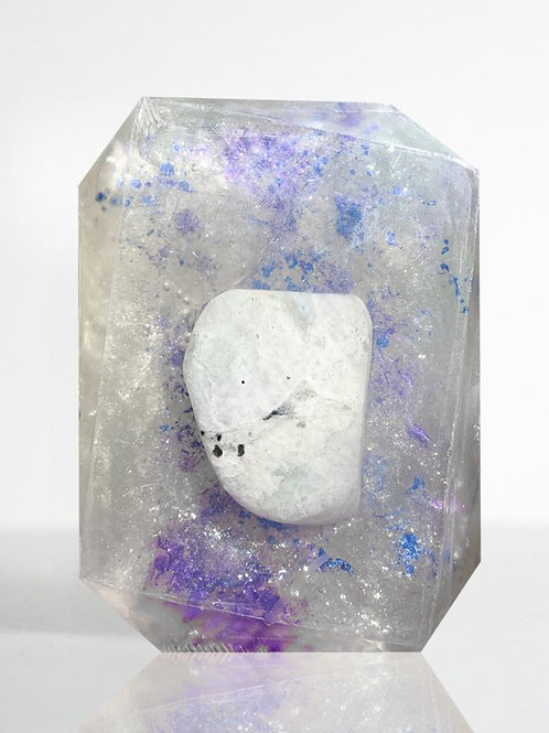 Crystal Bar Soap (This Too Shall Pass - Rainbow Moonstone)