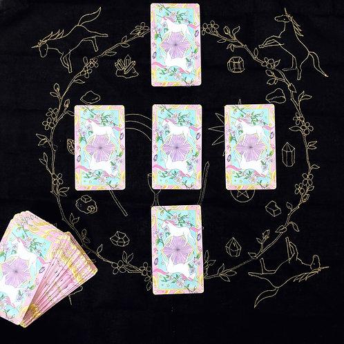 Crystal Unicorn Tarot Cloth
