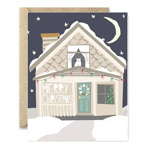 Snowy House Greeting Card
