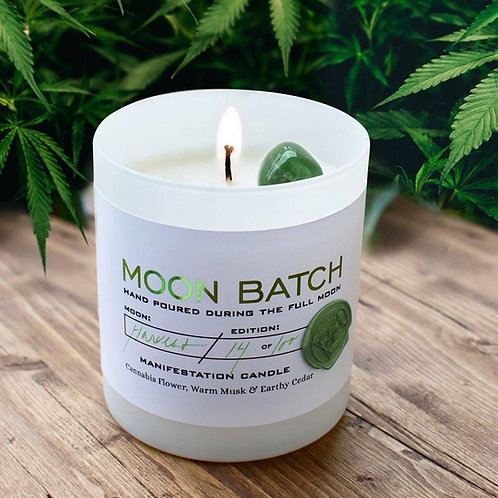 Moon Batch Candle (The Green Lady - Green Aventurine)