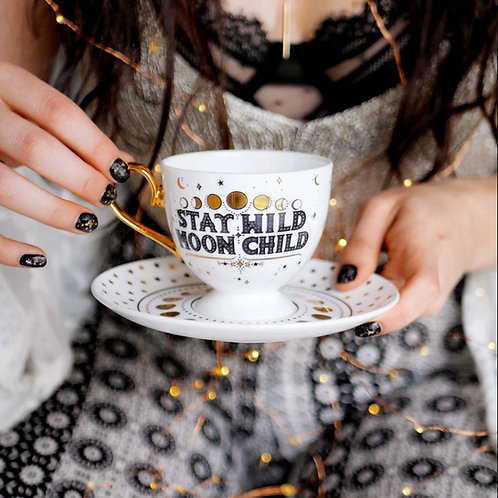 Stay Wild Moon Child Teacup & Saucer 🇦🇺