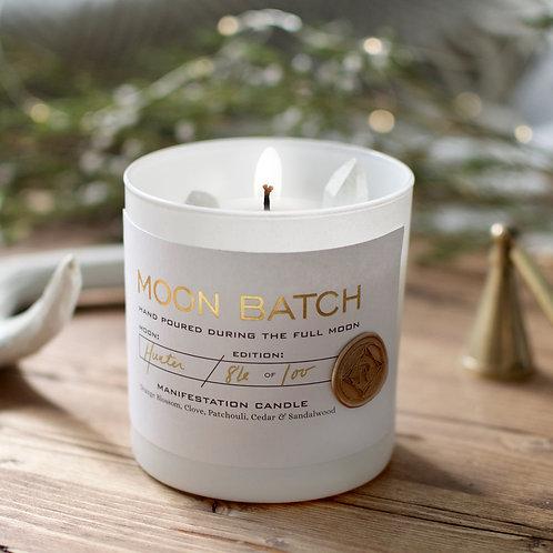 Moon Batch Candle (Full Moon Blend - Clear Quartz)