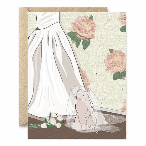 Wedding Cat Greeting Card