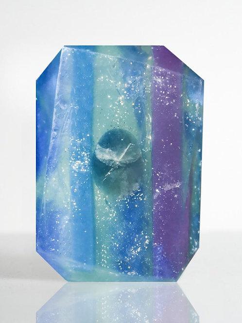 Crystal Bar Soap (Veiled In Truth - Virgo/Rainbow Fluroite)
