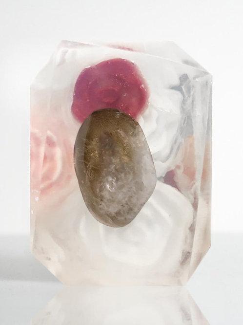 Crystal Bar Soap (Submerged Intimacy - Scorpio/Smokey Quartz)