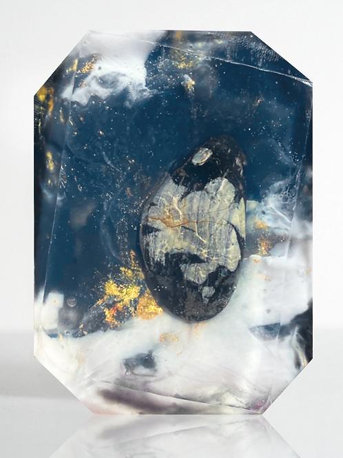 Crystal Bath Soap (Zen Daydream - Silver Leaf Jasper)