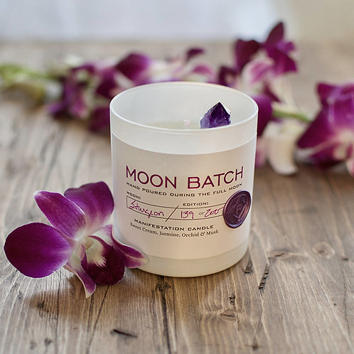 Moon Batch Candle (Lunar Twilight - Amethyst)