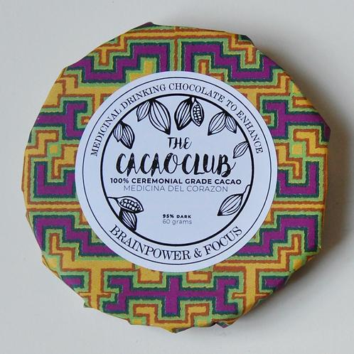 The Cacao Club Ceremonial Grade Cacao (Brain Power & Focus Blend)