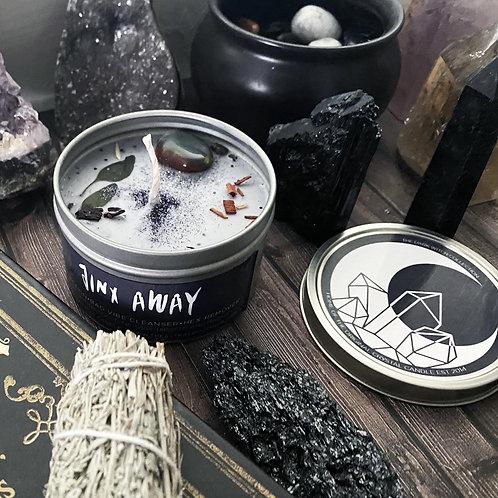 Jinx Away Crystal Candle
