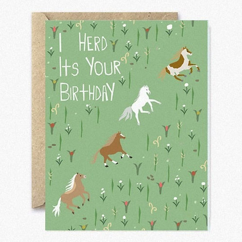 I Herd It's Your Birthday Greeting Card