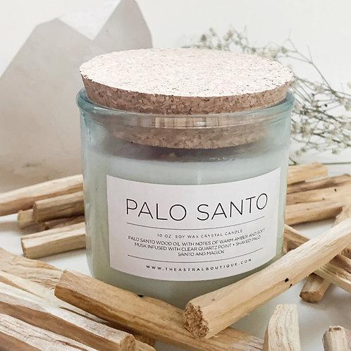 Palo Santo Crystal Candle