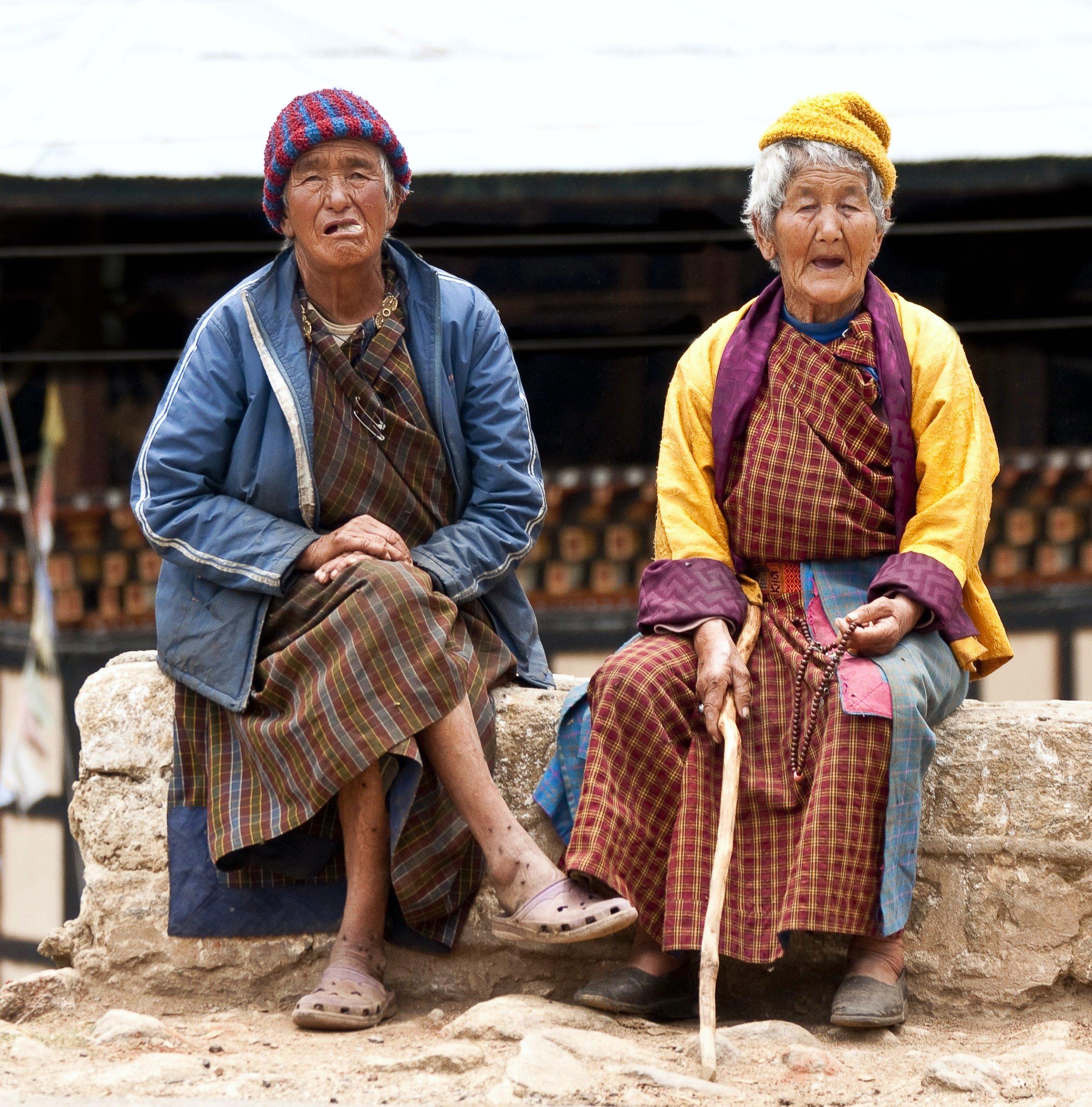 Elderly Bhutanese women (Bhutan)