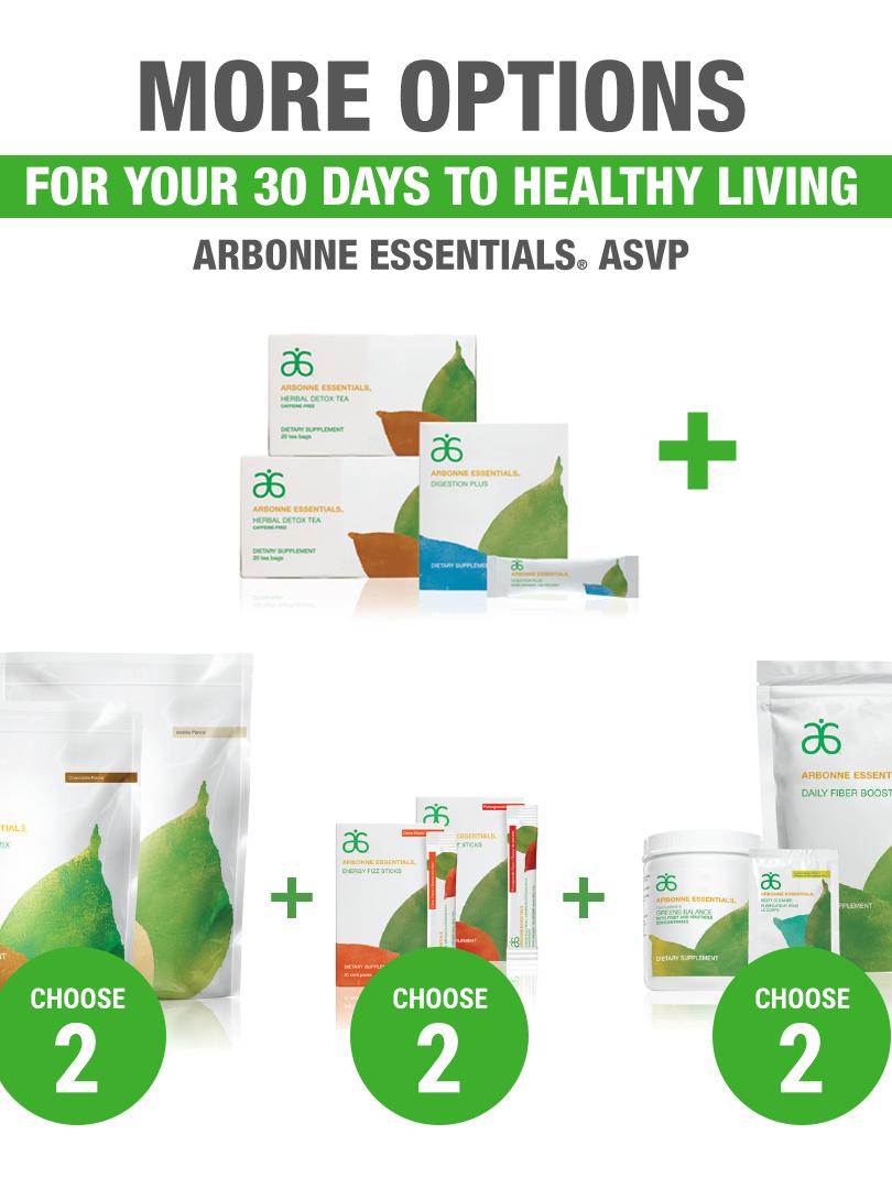Arbonne Essentials Nutrition ASVP Custom