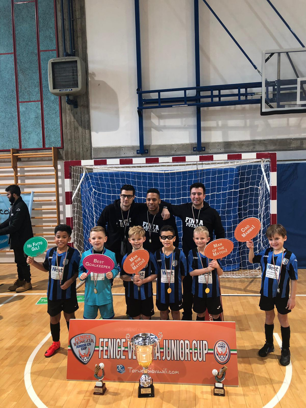 U9s Champions of the Fenice Junior Cup in Venice !