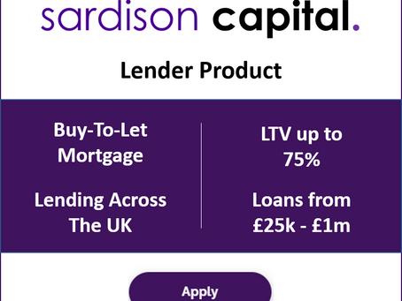 Lender Product Update - BTL Mortgage up to £1 million