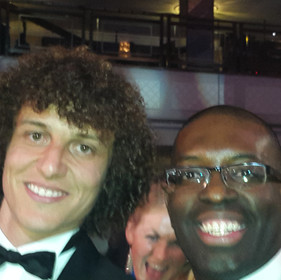Maurice Sardison Footballer David Luiz at PFA Awards 2017