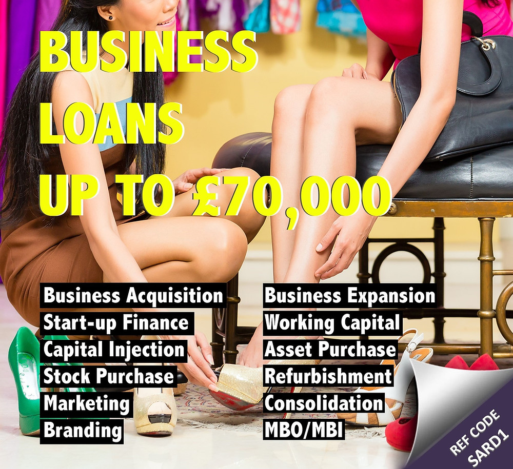 Business loans up to £70,000