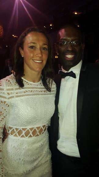 Maurice Sardison with Female Footballer