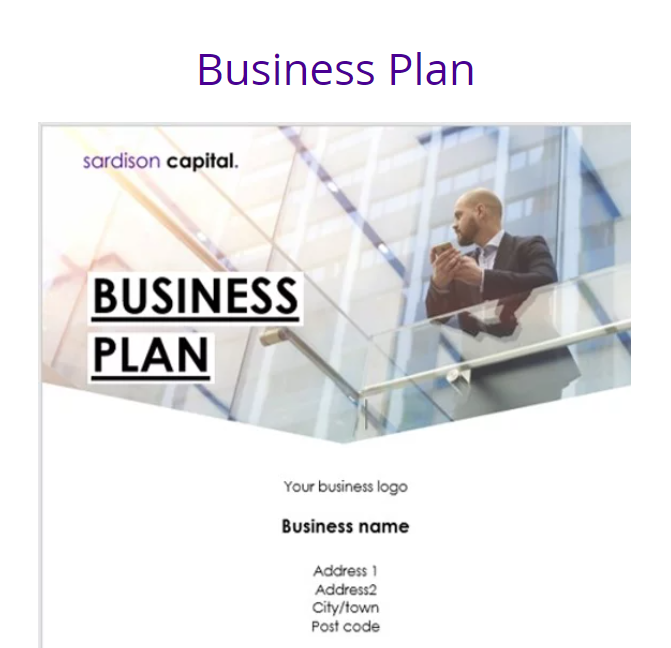 Need a Business Plan....here you go!