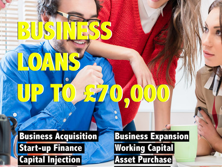 Business loans available up to £70,000