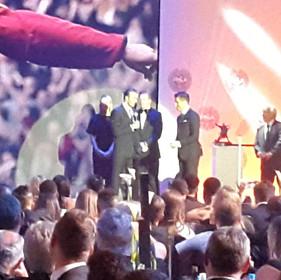 Maurice Sardison David Beckham PFA Awards 2017