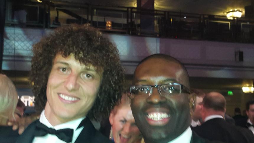 Maurice Sardison and David Luiz at PFA A