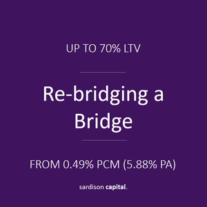Re-bridging a Bridging Loan | Sardison Capital