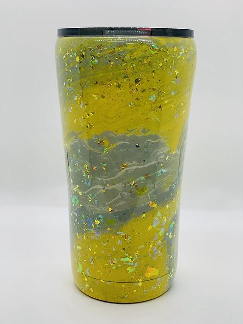Glittered Marbled Tumbler