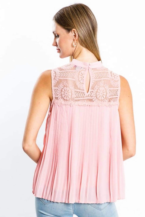 Baby Pink Lace tank top