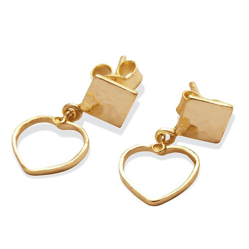 Love Triangle Drop Earrings
