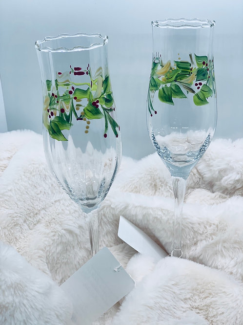 Holly Champagne Flute Set