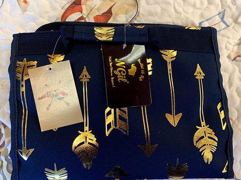 Navy and Gold Arrow Print Hangerbag