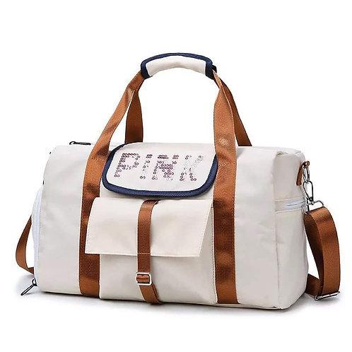 "Brown and Beige ""Pink"" bag"