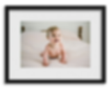 framed photo of baby
