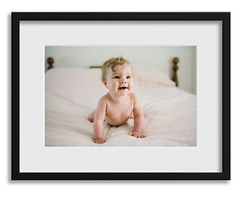 framed photo of baby