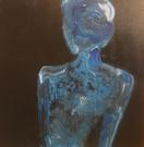 Blue Lady - 45 x 45 cm - 3500 NOK