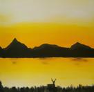 Sunset 45 x 45 cm - 4500 NOK