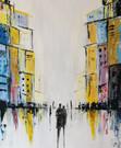 Into the City - 59 x 68 cm - 9000 NOK